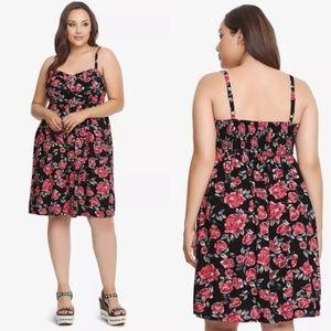 Torrid Floral Bow Front Sun Dress Plus 5X